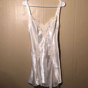 Victoria's Secret cream satin chemise size small